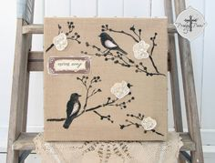 19 Inspirational Burlap Canvas Ideas - by The Turquoise Home featuring my tutorial!! <3