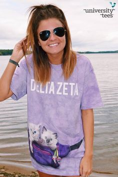 cats on cats on cats | Delta Zeta | Made by University Tees | universitytees.com