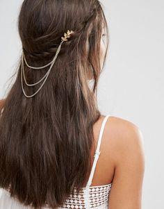 Missguided Leaf Detail Hair Chain | ASOS