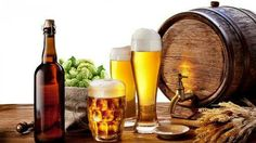 Picture of Beer barrel with beer glasses on a wooden table Isolated on a white background stock photo, images and stock photography. Evil Twin, Beer Pictures, Food Pictures, Chinese Beer, Home Brew Supplies, Beer Supplies, Beer Brands, Beer Festival, How To Make Beer