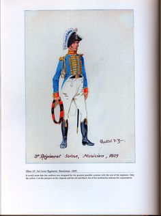 Foreign Troops: Plate 29: 3rd Swiss Regiment, Bandsman, 1809.