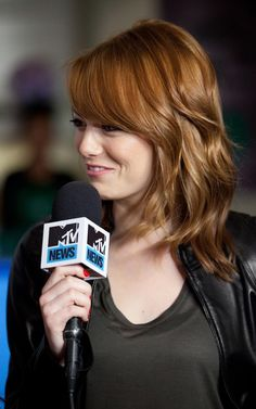 Emma Stone - she makes me laugh like no other. We would be bosom friends in another life :)