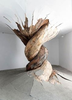 Les incroyables installations en bois d'Henrique Oliveira (image)