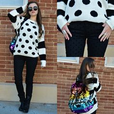 Ever Mour Polka Dotted & Striped, Celebrity Pink Jeans Polka Dotted Black, Steve Madden Troopa, Pink Sequined, Stone Ring, Brighton Crystal Ring