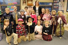 First graders at St. Gertrude School dressed up to look 100 years old to mark 100 days of school. Photo courtesy St. Gertrude School; click any photo to enlarge.