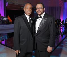 Al Sharpton and Michael Eric Dyson at Whit house correspondents dinner.
