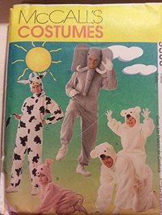 Pig Costumes, Animal Costumes, Halloween Costumes, Bear Costume, Mccalls Patterns, Coat Patterns, Halloween Costume Sewing Patterns, Nightgown Pattern, Adult Halloween