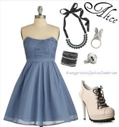 Alice's outfit in wonderland