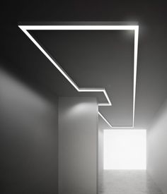 Ceiling-mounted lights by Panzeri panzeri. Cove Lighting, Linear Lighting, Lighting System, Strip Lighting, Interior Lighting, Corridor Lighting, Luxury Interior, Lighting Concepts, Lighting Design