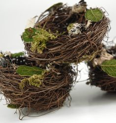 """3"""" Natural Bird Nest  made with Twigs  -this would make a cute """"pillow"""" for the ring bearers!"""