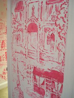 The Terrier and Lobster: Lilly Pulitzer Store Wall Paintings