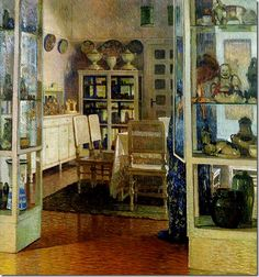 CarlMoll InteriorInDobling 1908 Private Collection-Austria