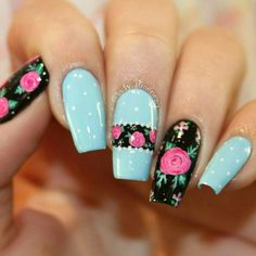 Leopard Nails, Blue Nails, Pedicure Nails, Manicure, Karma Nails, Nail Art Printer, Short Nails Art, Sexy Nails, Flower Nail Art