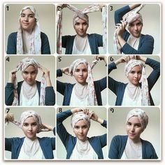 How to tie a chemo cancer scarf? - Fashion advice around the scarf, how to tie a cancer scarf after chemo, advice of chemo scarf knot and hair loss. Turban Hijab, Turban Mode, Turban Tutorial, Hijab Tutorial, Head Scarf Tutorial, Head Scarf Styles, Hair Styles, Hair Wrap Scarf, Scarf Knots