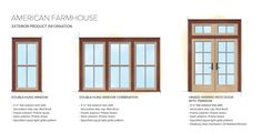Home Window Styles | American Farmhouse Home Style Exterior Window Door Details
