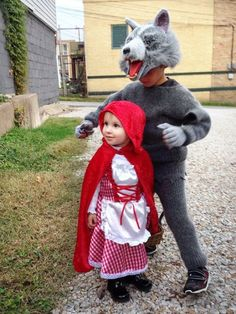 <p>Morgan Medinger submitted this photo of a brother-sister duo playing out the popular Little Red Riding Hood story. </p>