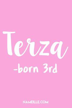 50 Beautiful Italian Baby Names for Girls I Terza I Nameille.com
