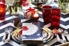 One Kings Lane holiday table. (Yes, I've been watching Million Dollar Decorators. :-))