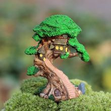 Elf Tree House Miniature Fairy Garden Home Houses Decoration Mini Craft Micro Landscaping Decor DIY Accessories(China (Mainland))