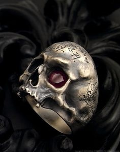 A Different Decision: Skull Wedding Rings Gothic Wedding Rings, Ruby Wedding Rings, Skull Wedding Ring, Gothic Rings, Engagement Ring Prices, Gothic Engagement Ring, Designer Engagement Rings, Mens Skull Rings, Skull Jewelry