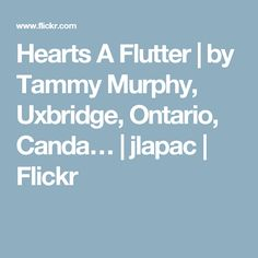 Hearts A Flutter | by Tammy Murphy, Uxbridge, Ontario, Canda… | jlapac | Flickr