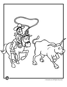 Cowboy Coloring Pages 8 Free Patterns Yarn Jedidiah Rh Com Pizza Ranch Old