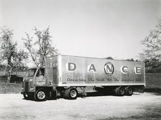 Dance Freight Lines Truck   Photograph   Wisconsin Historical Society