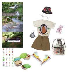 """""""8. picnic babe."""" by poolboy ❤ liked on Polyvore featuring My Mum Made It, HUF, Vans and *Accessories Boutique"""