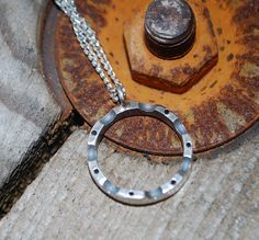 GB Bear  Silver Ball Bearing Necklace Industrial by galbarash