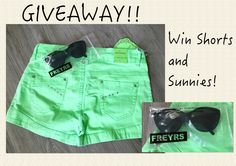 GIVEAWAY: Win Cute Shorts and Some Sunnies! - MyStyleSpot #contest #win #sweepstakes #fashion #style #shopping #giveaway #freyrs #sunnies #sunglasses #bright #green #shorts #ladies #women #clothing #womensfashion #womensfashionblogger #ootd #pinoftheday