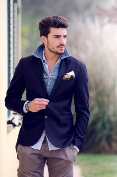 mode | fashion | man | male | Blazer over denim