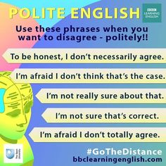 how to disagree in English