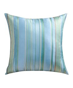 Take a look at this Light Blue Stripe Fresca Sandy Wilson Silk Decorative Pillow by ACG Green Group on #zulily today!