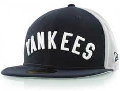 New York Yankees Cooperstown Team Name 59Fifty Fitted Baseball Cap by NEW ERA x MLB