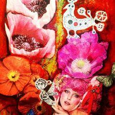 Ausschnitt aus meinem Bild,Acryl und Ölkreide
