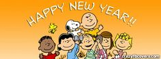 Charlie Brown And Gang Happy New Year Facebook Cover Facebook Timeline Cover