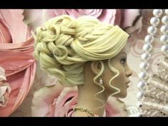 Wedding hairstyle for long medium hair tutorial. Bridal prom updo. - YouTube