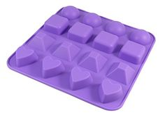 Bakerpan Silicone Chocolate Mold 16 Cavities Jelly and Candy Mold 4 Shapes -- Visit the image link more details.