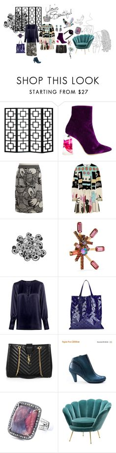 """You're beautiful"" by sarahhughes-net on Polyvore featuring E L L E R Y, MARC CAIN, Valentino, Elizabeth Cole, Nili Lotan, Bao Bao by Issey Miyake, Yves Saint Laurent and Eichholtz"