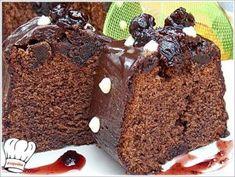 ΚΕΙΚ ΣΟΚΟΛΑΤΑΣ ΜΕ ΓΛΥΚΟ ΚΟΥΤΑΛΙΟΥ ΒΥΣΣΙΝΟ!!! - Νόστιμες συνταγές της Γωγώς! Muffin, Breakfast, Desserts, Recipes, Food, Morning Coffee, Tailgate Desserts, Deserts, Eten
