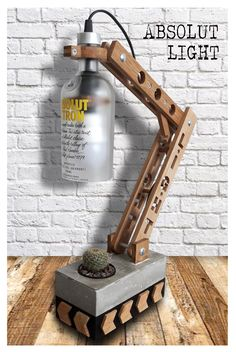 Absolut Lamp 2017 wooden lamp, table lamp, desk lamp