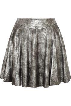Pipri metallic coated suede skirt   Muubaa   50% off   THE OUTNET