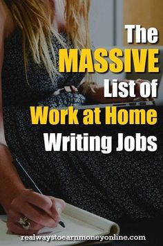This is a MASSIVE list of more than 100 legitimate sites that pay you to work from home as a writer. With many of these, you can sign up and start earning money today -- even if you are a beginning writer.