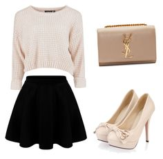 """""""school"""" by plam0130 ❤ liked on Polyvore featuring Yves Saint Laurent"""