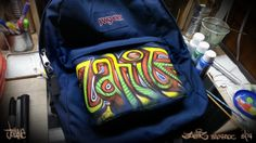 'Zahir' Custom Backpack  / Acrylics on Jansport =)