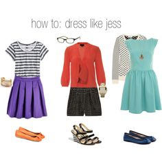 """I would wear practically everything Jess wears in """"New Girl"""". Sometimes I want to be her....."""