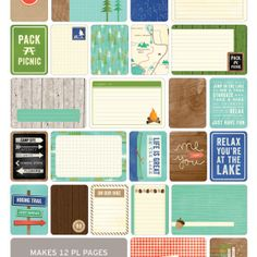 Great Outdoors Themed Cards - Project Life www.BeckyHiggins.com/shop