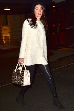 What: Citizens of Humanity jeans  Giambattista Valli coat and bag  When: March 6, 2015 Where: NYC   - HarpersBAZAAR.com