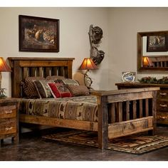 Heritage Barn Wood Bed made to last a lifetime.  #barnwoodfurniture