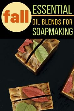 Fall essential oil blends for soaps. Ready to bask in your favorite fall scents as part of your morning bath routine? Following are a number of my favorite fall essential oil blends for soaps. They can be used in both cold process soap recipes as well as melt and pour soap recipes and hot process soap. The best essential oil recipe blends for your soap making projects this autumn.